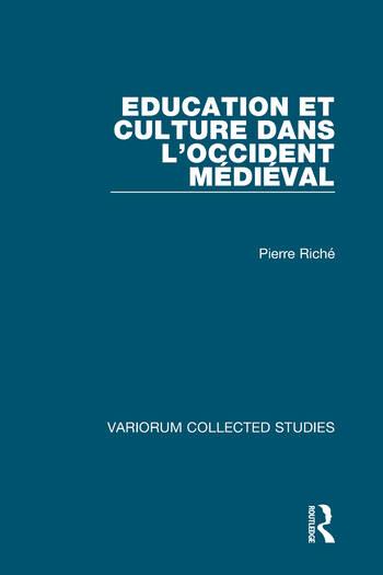 Education et culture dans l'Occident médiéval book cover