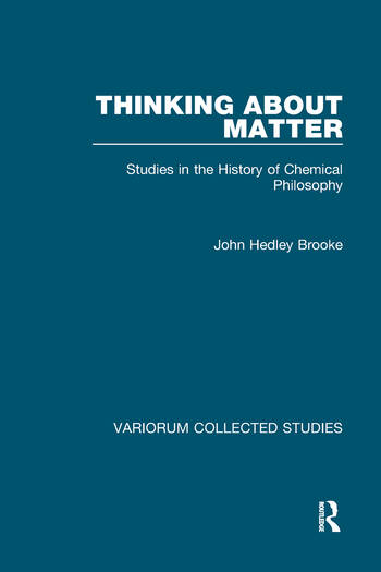 Thinking about Matter Studies in the History of Chemical Philosophy book cover