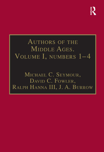 Authors of the Middle Ages. Volume I, Nos 1–4 English Writers of the Late Middle Ages book cover