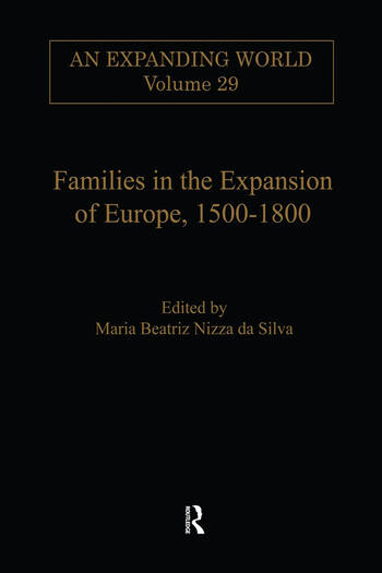 Families in the Expansion of Europe,1500-1800 book cover
