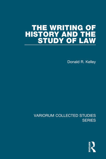 The Writing of History and the Study of Law book cover