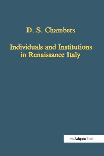 Individuals and Institutions in Renaissance Italy book cover
