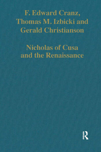 Nicholas of Cusa and the Renaissance book cover