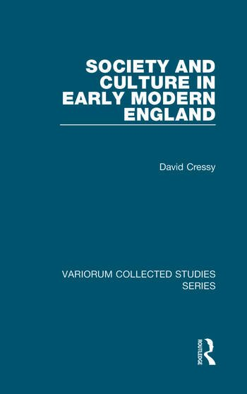 Society and Culture in Early Modern England book cover