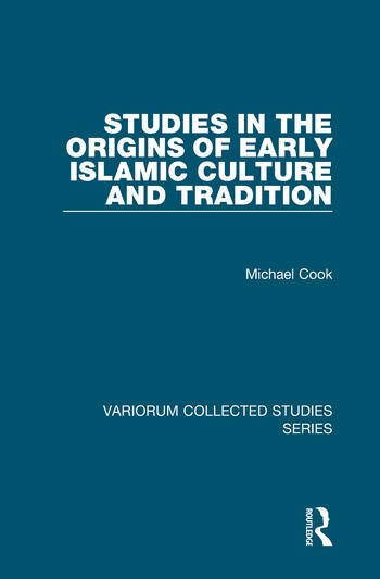 Studies in the Origins of Early Islamic Culture and Tradition book cover