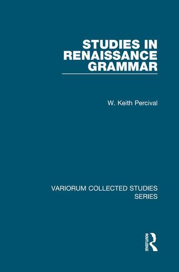 Studies in Renaissance Grammar book cover