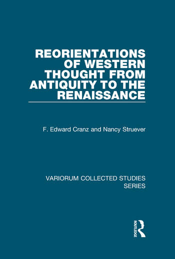 Reorientations of Western Thought from Antiquity to the Renaissance book cover