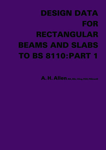 Design Data for Rectangular Beams and Slabs to BS 8110: Part 1 book cover