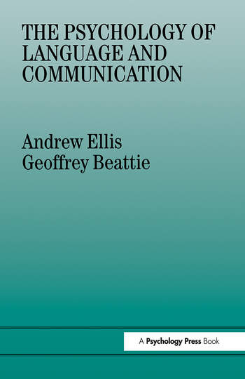 The Psychology of Language And Communication book cover