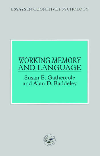Working Memory and Language book cover