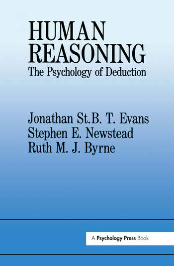 Human Reasoning The Psychology Of Deduction book cover