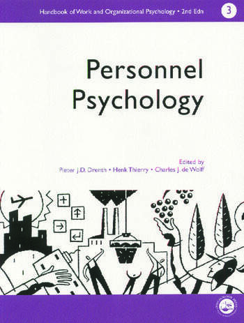 A Handbook of Work and Organizational Psychology Volume 3: Personnel Psychology book cover
