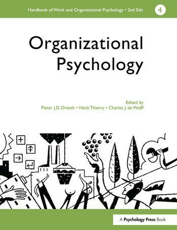 A Handbook of Work and Organizational Psychology Volume 4: Organizational Psychology book cover