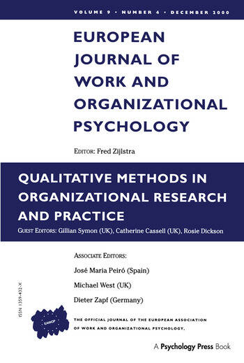 Qualitative Methods in Organizational Research and Practice A Special Issue of the European Journal of Work and Organizational Psychology book cover