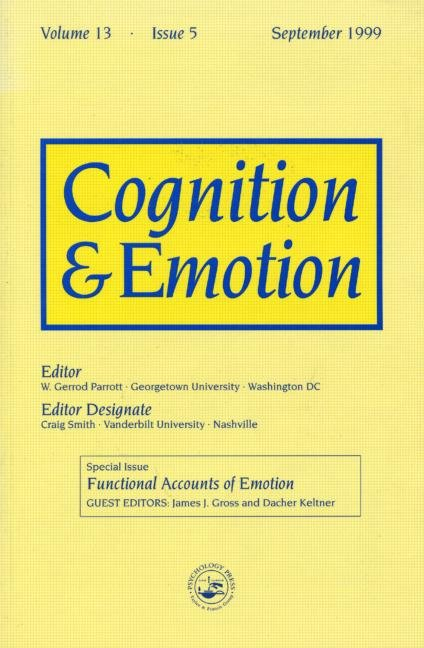 Functional Accounts of Emotion A Special Issue of the Journal Cognitiona and Emotion book cover