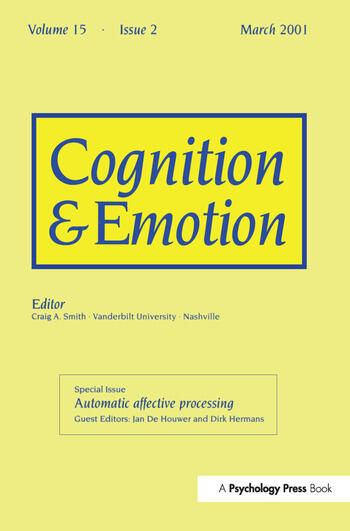Automatic Affective Processing A Special Issue of Cognition and Emotion book cover