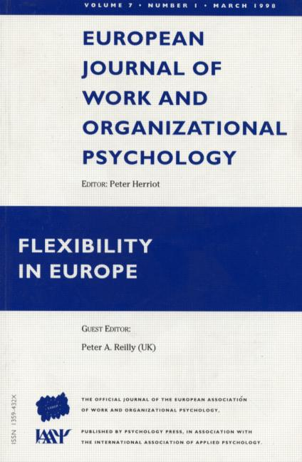 Flexibility in Europe A Special Issue of the European Journal of Work and Organizational Psychology book cover