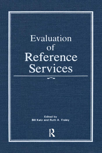 Evaluation of Reference Services book cover