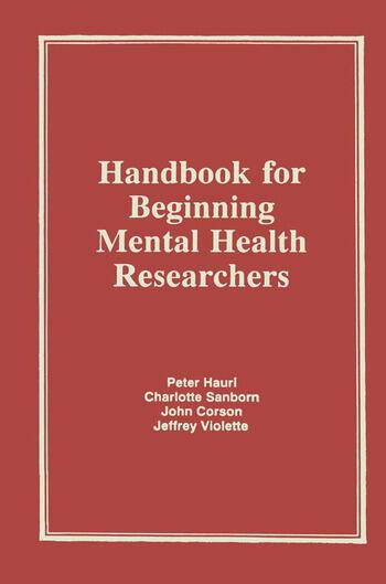 Handbook for Beginning Mental Health Researchers book cover