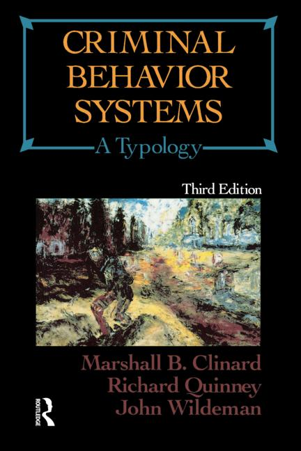 Criminal Behavior Systems A Typology book cover