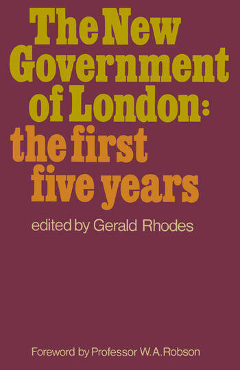 The New Government of London book cover