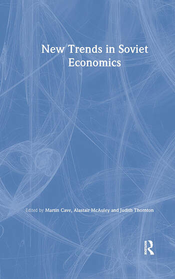 New Trends in Soviet Economics book cover