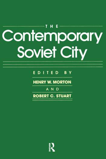 The Contemporary Soviet City book cover