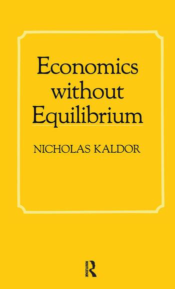 Economics without Equilibrium book cover