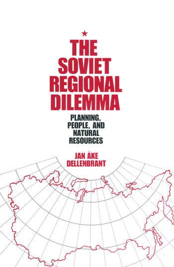 The Soviet Regional Dilemma book cover