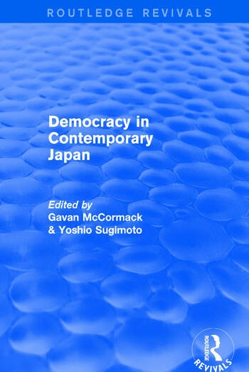 Democracy in Contemporary Japan book cover