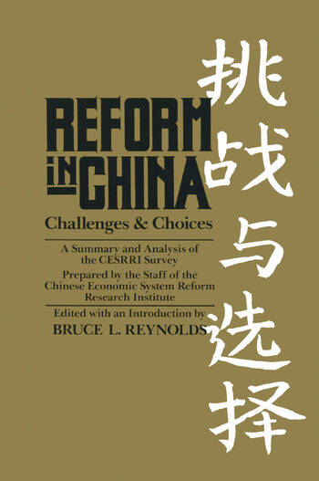 Reform in China book cover