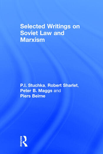 Selected Writings on Soviet Law and Marxism book cover