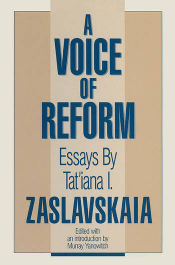 A Voice of Reform: Essays Essays book cover