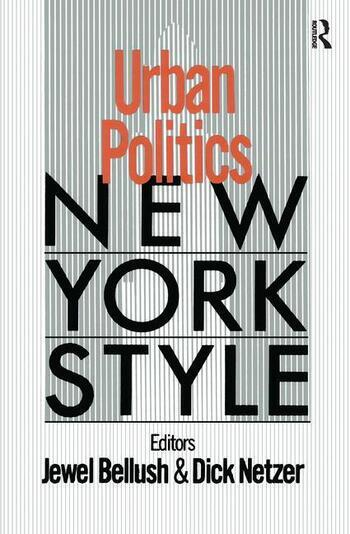 Urban Politics: New York Style New York Style book cover