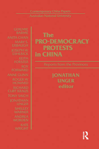 The Pro-democracy Protests in China: Reports from the Provinces Reports from the Provinces book cover