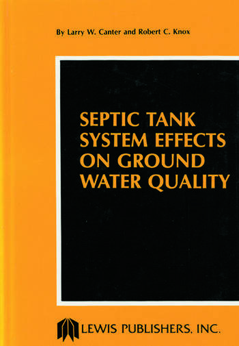 Septic Tank System Effects on Ground Water Quality book cover