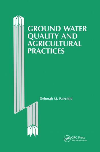 Ground Water Quality and Agricultural Practices book cover