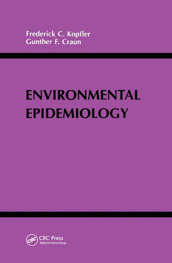 Environmental Epidemiology book cover