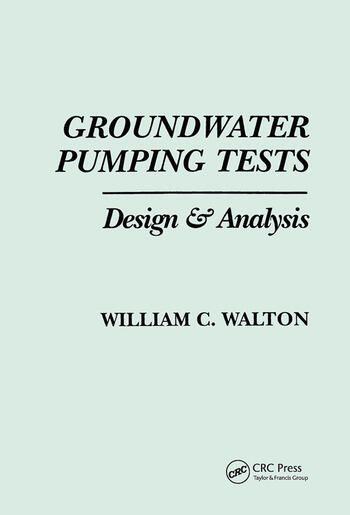 Groundwater Pumping Tests book cover