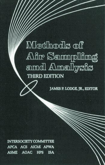Methods of Air Sampling and Analysis book cover