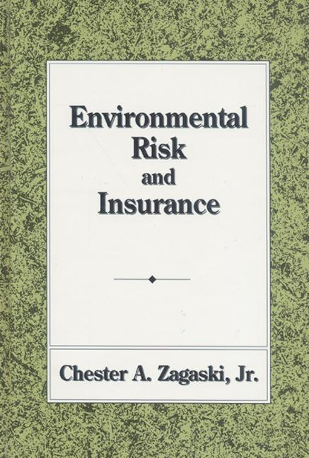 Environmental Risk and Insurance book cover