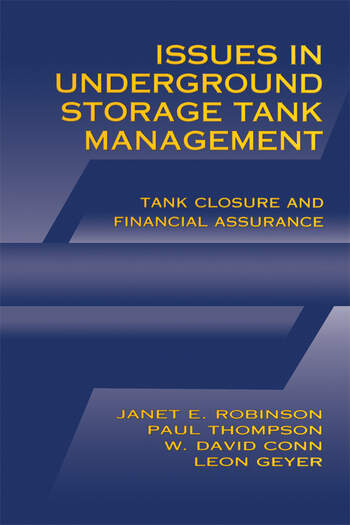 Issues in Underground Storage Tank Management UST Closure and Financial Assurance book cover