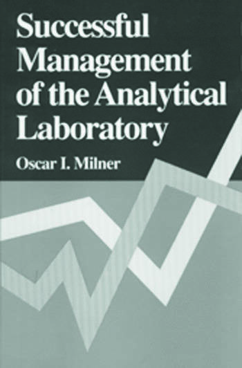 Successful Management of the Analytical Laboratory book cover