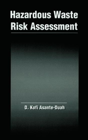 Hazardous Waste Risk Assessment book cover