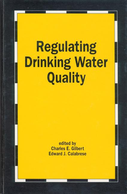 Regulating Drinking Water Quality book cover