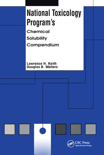 National Toxicology Program's Chemical Solubility Compendium book cover