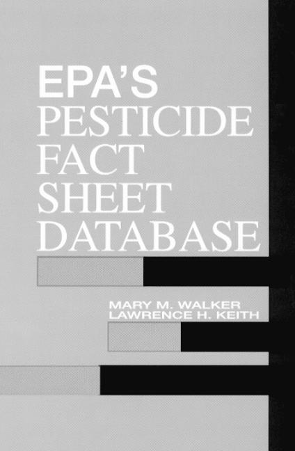 EPA'S Pesticide Fact Sheet Database book cover