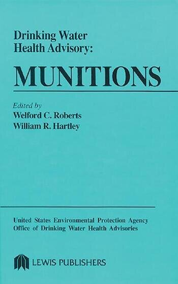 Drinking Water Health Advisory Munitions book cover