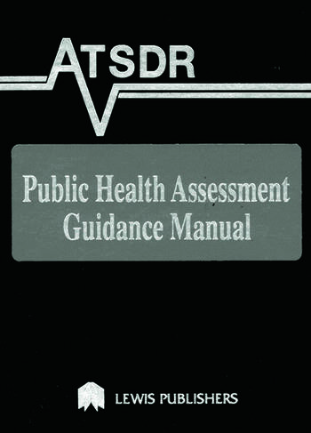 ATSDR Public Health Assessment Guidance Manual book cover