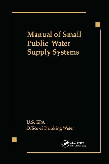 Manual of Small Public Water Supply Systems book cover